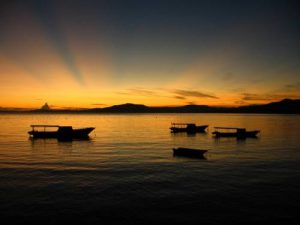 Sunrise in Bunaken Island
