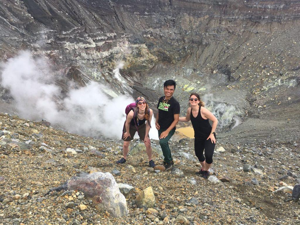 Posing in Mount Lokon Crater